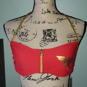DC COMICS Wonder Woman Bandeau Halter Bikini Top